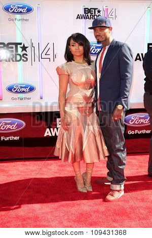 LOS ANGELES - JUN 29:  Kyla Pratt, Danny KP Kilpatrick at the 2014 BET Awards - Arrivals at the Nokia Theater at LA Live on June 29, 2014 in Los Angeles, CA