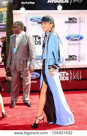 LOS ANGELES - JUN 29:  Zendaya Coleman at the 2014 BET Awards - Arrivals at the Nokia Theater at LA Live on June 29, 2014 in Los Angeles, CA