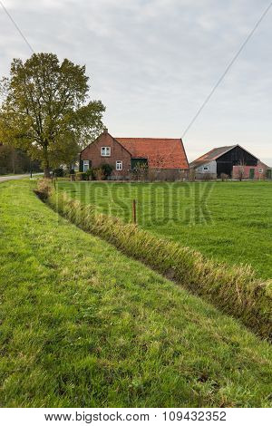 Old Dutch Farm In Autumn