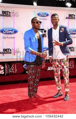 LOS ANGELES - JUN 29:  Toofan, Master Just, Barabas at the 2014 BET Awards - Arrivals at the Nokia Theater at LA Live on June 29, 2014 in Los Angeles, CA