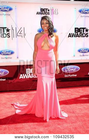 LOS ANGELES - JUN 29:  Tatyana Ali at the 2014 BET Awards - Arrivals at the Nokia Theater at LA Live on June 29, 2014 in Los Angeles, CA