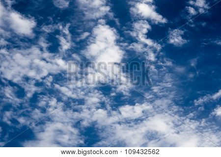 Clouds On Blue Sky Before The Storm