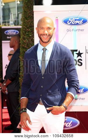 LOS ANGELES - JUN 29:  Stephen Bishop at the 2014 BET Awards - Arrivals at the Nokia Theater at LA Live on June 29, 2014 in Los Angeles, CA