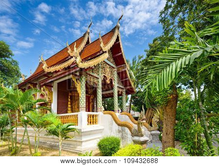 Small Buddhist temple in Chiang Mai, Thailand.