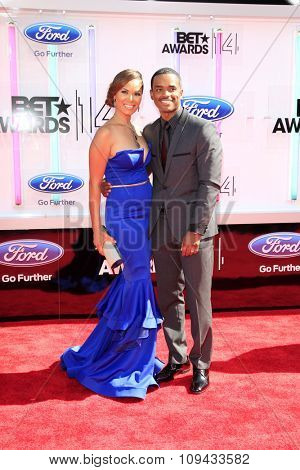 LOS ANGELES - JUN 29:  Tomasina Parrott, Larenz Tate at the 2014 BET Awards - Arrivals at the Nokia Theater at LA Live on June 29, 2014 in Los Angeles, CA