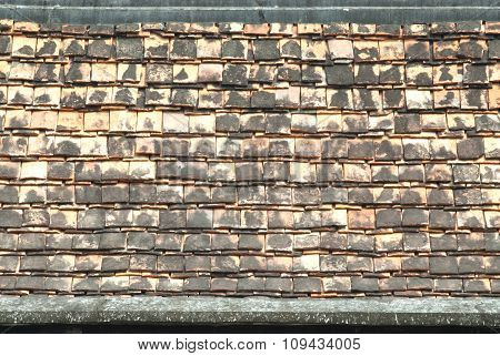 Old ceramic Roof Tiles.