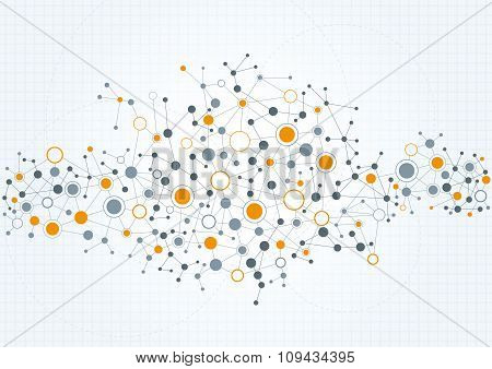 Technical Network Abstract Background.