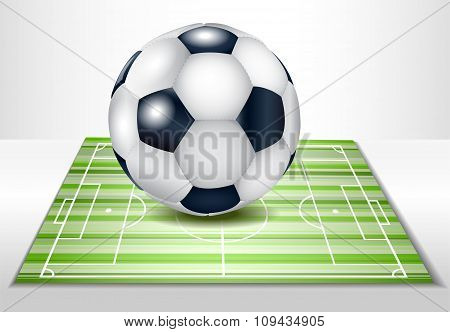 Football field with ball.