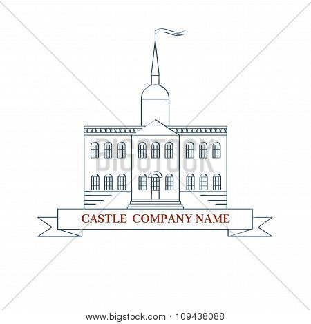 vector castle. Perfect logo for luxury real estate. Isolated illustration