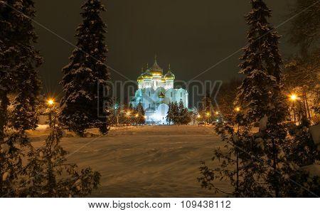 Night winter Yaroslavl