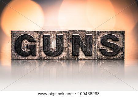 Guns Concept Vintage Letterpress Type