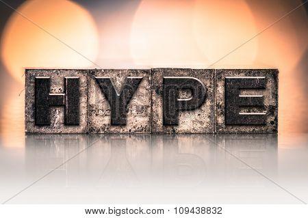 Hype Concept Vintage Letterpress Type