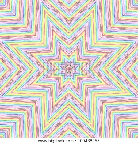 Bright Color Lines Star Pattern