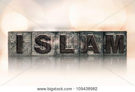 Islam Concept Vintage Letterpress Type