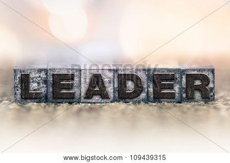 Leader Concept Vintage Letterpress Type