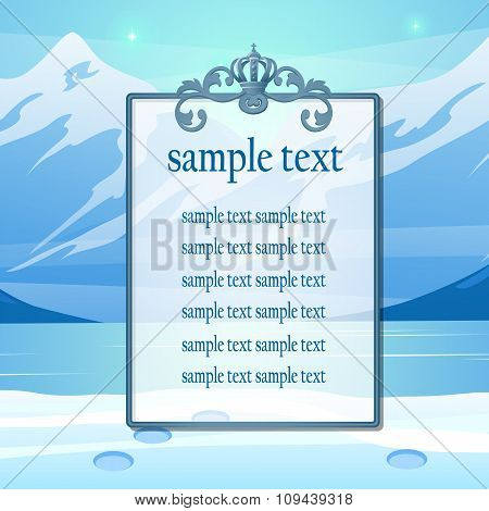 Mountain scenery and space for your text, poster for your design needs