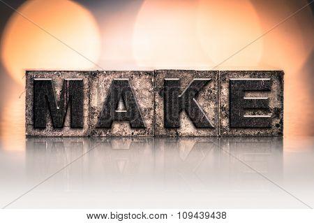 Make Concept Vintage Letterpress Type