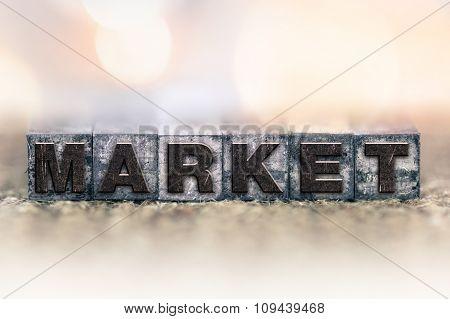 Market Concept Vintage Letterpress Type