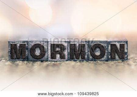 Mormon Concept Vintage Letterpress Type