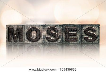 Moses Concept Vintage Letterpress Type