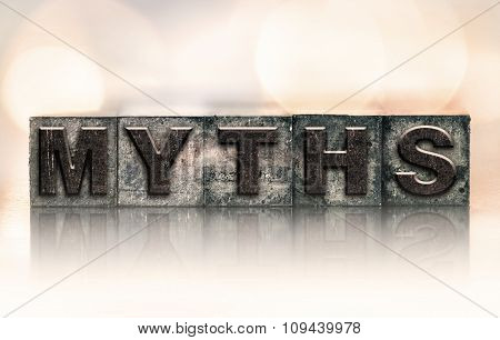 Myths Concept Vintage Letterpress Type