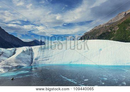 Lake on Kennicott glacier, Wrangell-St. Elias National Park, Alaska