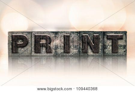 Print Concept Vintage Letterpress Type