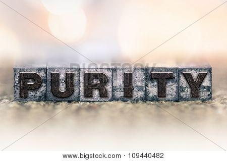 Purity Concept Vintage Letterpress Type