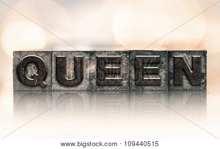 Queen Concept Vintage Letterpress Type