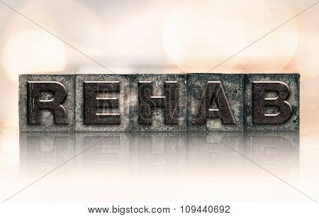 Rehab Concept Vintage Letterpress Type
