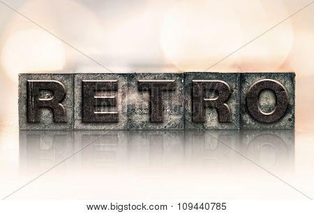 Retro Concept Vintage Letterpress Type