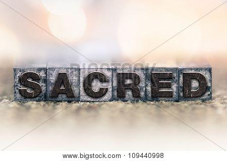 Sacred Concept Vintage Letterpress Type