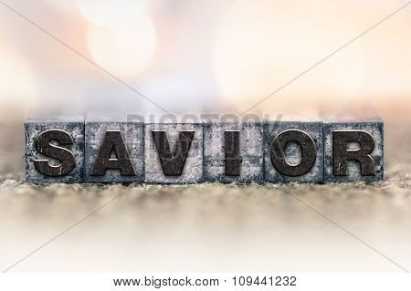 Savior Concept Vintage Letterpress Type