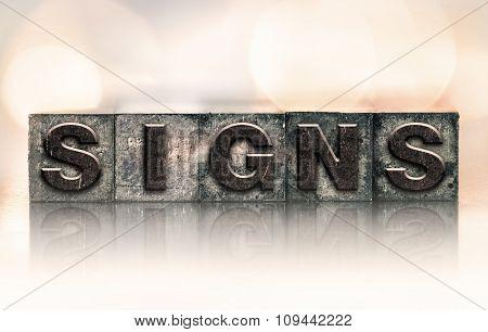 Signs Concept Vintage Letterpress Type