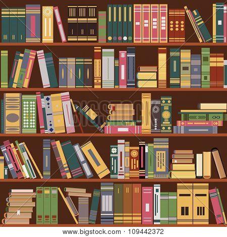 bookshelf, books,  library