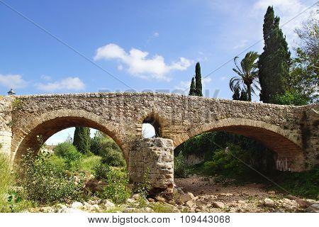 Roman Bridge In Pollenca. Mallorca, Spain