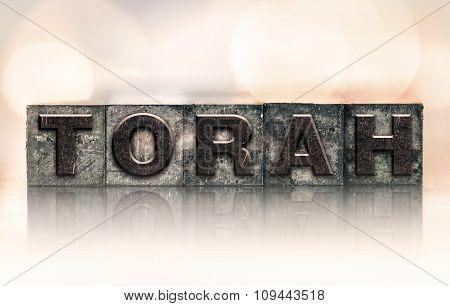 Torah Concept Vintage Letterpress Type
