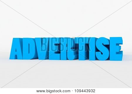 Big 3D Bold Text - Advertise