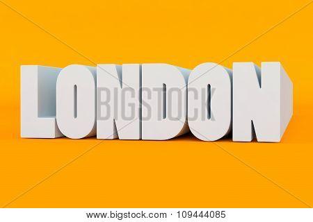 Big 3D Bold Text - London