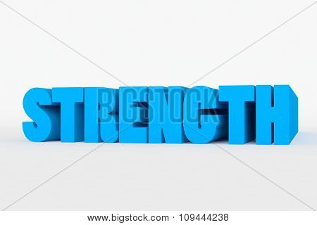 Big 3D Bold Text - Strength