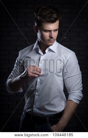 Handsome Man In White Shirt