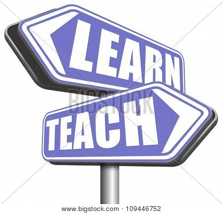 learn and teach different sides of education at high school or university or e-learning sharing knowledge