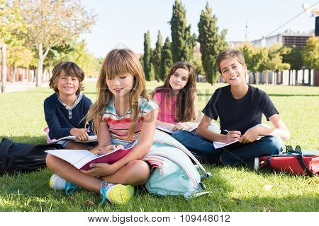 Kids On School Campus