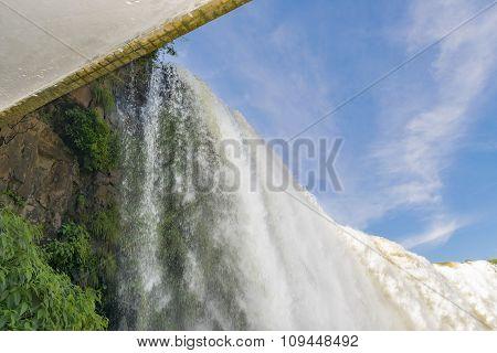 Devil Throat Waterfalls View From Brazilian Border