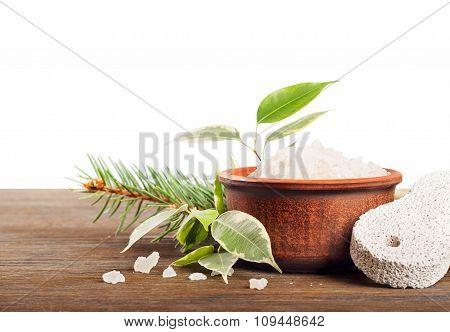Aromatic Bath Salt And Pumice Stone