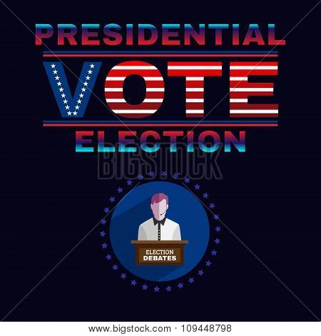 Usa Presidential Election Debates Banner