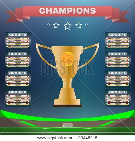 Champions Groups And Teams Template