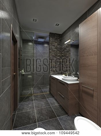 Design Bathroom Contemporary Style.