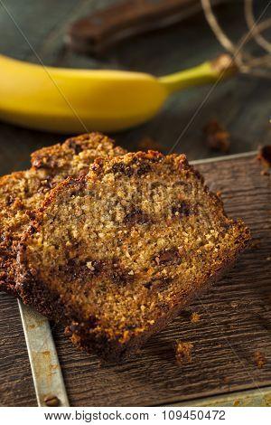 Homemade Chocolate Chip Banana Bread