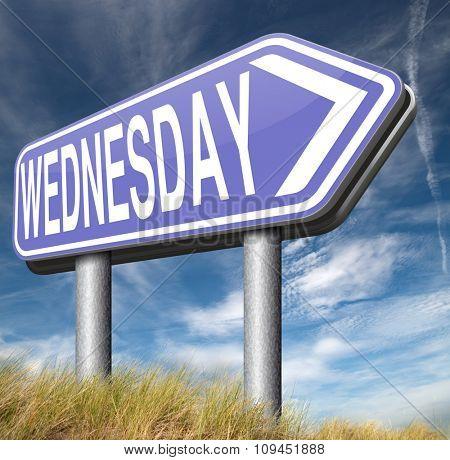 wednesday sign event calendar